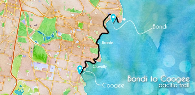 Carte Bondi Coogee