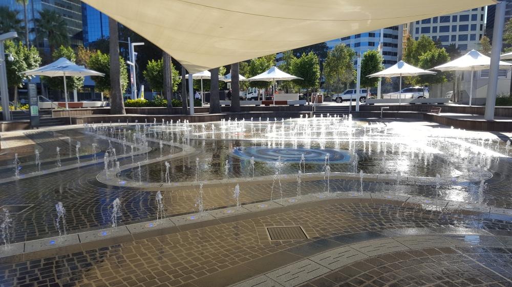 Jets d'eau Elizabeth Quay