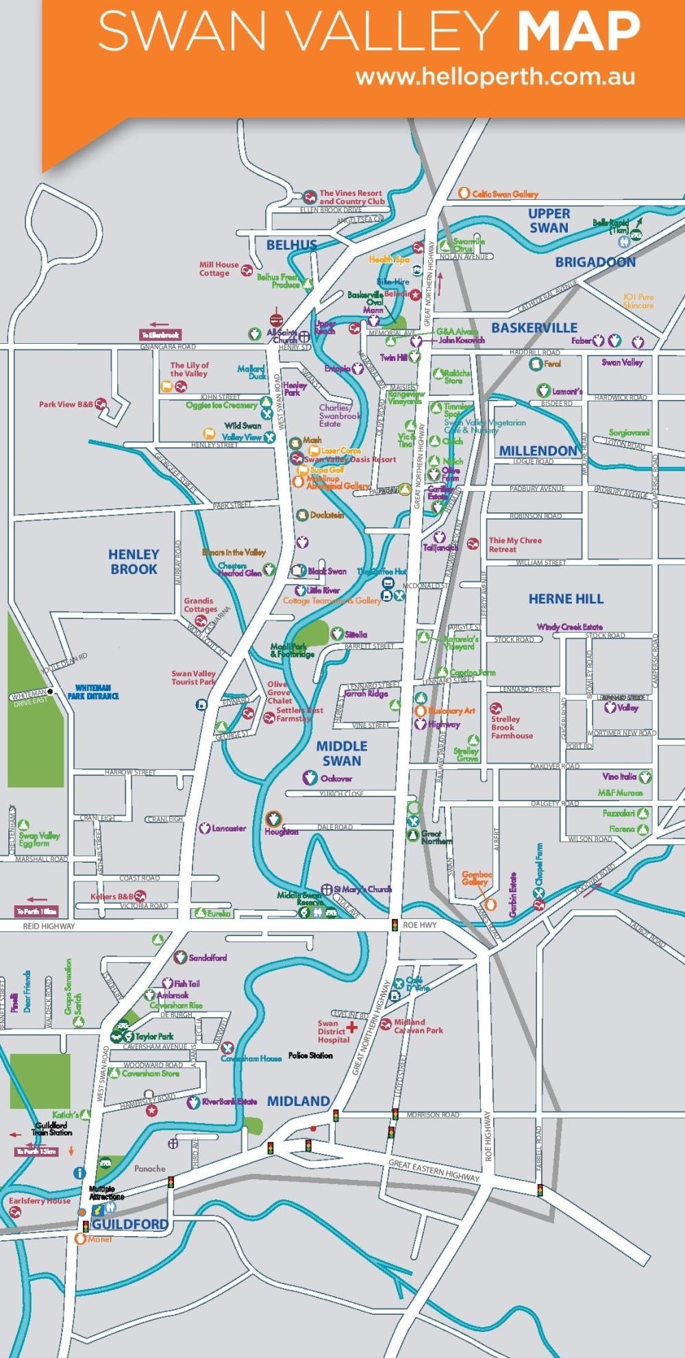 Swan Valley carte