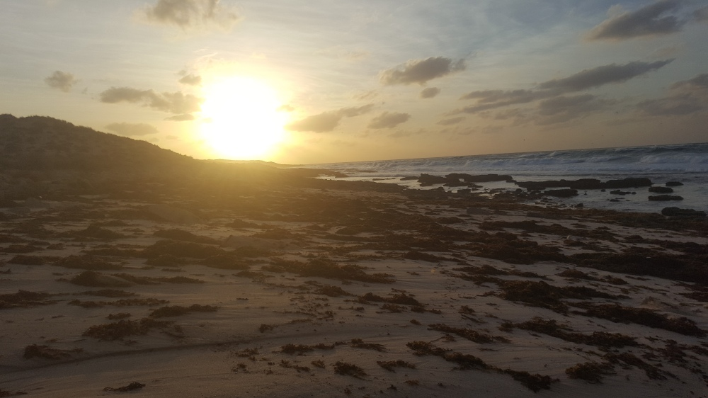 Exmouth Coucher soleil plage