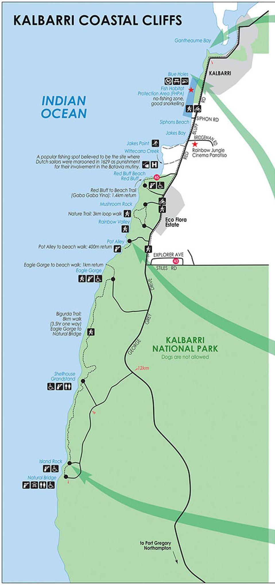 Carte Kalbarri